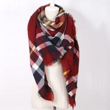 za winter scarf 2016 Tartan Scarf women desigual Plaid Scarf cuadros New Designer Acrylic warm Blanket Scarves Shawls bufandas(China (Mainland))