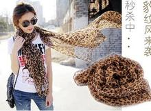 2016 Leopard scarf Cotton Linen high quality women's stole,brand designer scarf(China (Mainland))