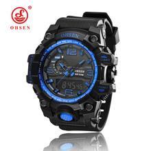 2016 جديد OHSEN أحدث نوعية جيدة ساعة كوارتز ، مقاوم للماء في الهواء الطلق الساعات الرياضية ساعة رقمية ساعة كرونوغراف للرجال(China)