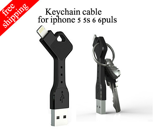 Wholesale multi mini 3 inch usb charger cell phone chargekey sync keychain data cable for iphone5 charger for iphone 5s 6 6 plus(China (Mainland))