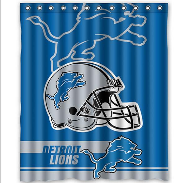 free shipping n f l detroit lions custom shower curtain