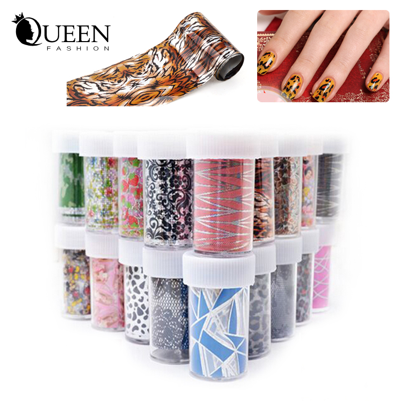 50Designs Nail Transfer Foil Sticker Paper Mix Creative Designs Art Decals Decoration DIY Beauty Manicure Tools - Fashion Queen Accessory Co. , Ltd store