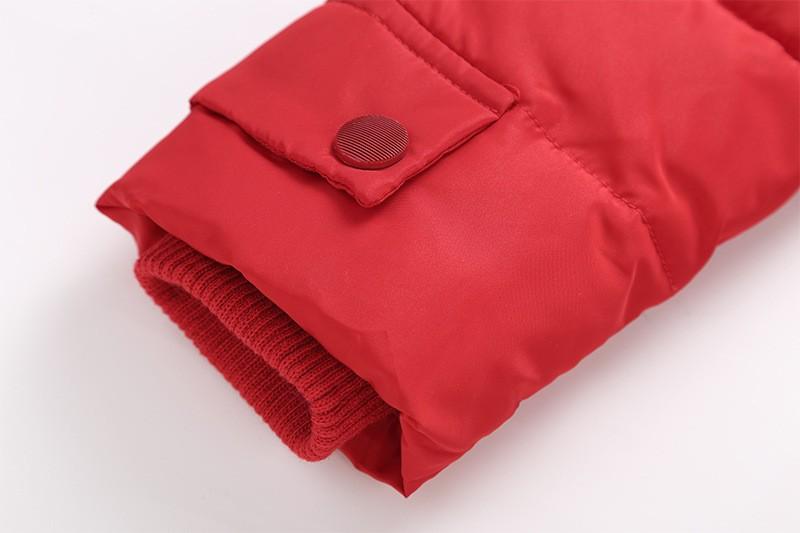 Скидки на Зимой Дети Девушки пальто куртки 2016 Мода Твердые Капюшоном толстые Теплые Пуховик розовый Красный Черный Зеленый Розовый Красный Для 5-12 года