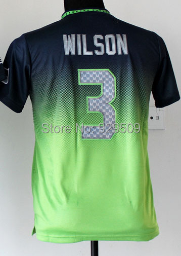 Newest Russell Wilson Fashion Jersey  Elite American Football Jersey Fashion Blue Shipping