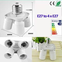 1Pcs/ Lot New E27 Softbox Socket Photography Equipment Photo Studio E27 Socket 1 to 4 Heads Lamp Holder Splitter Converter