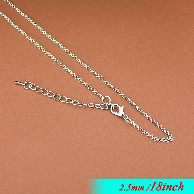 """Здесь можно купить  Fashion 2.5mm Rolo Jewelry Links 18"""" For Metal  Necklace Chains Pendants With Lobster Clasps Extender End Drops Platinum Tone  Ювелирные изделия и часы"""