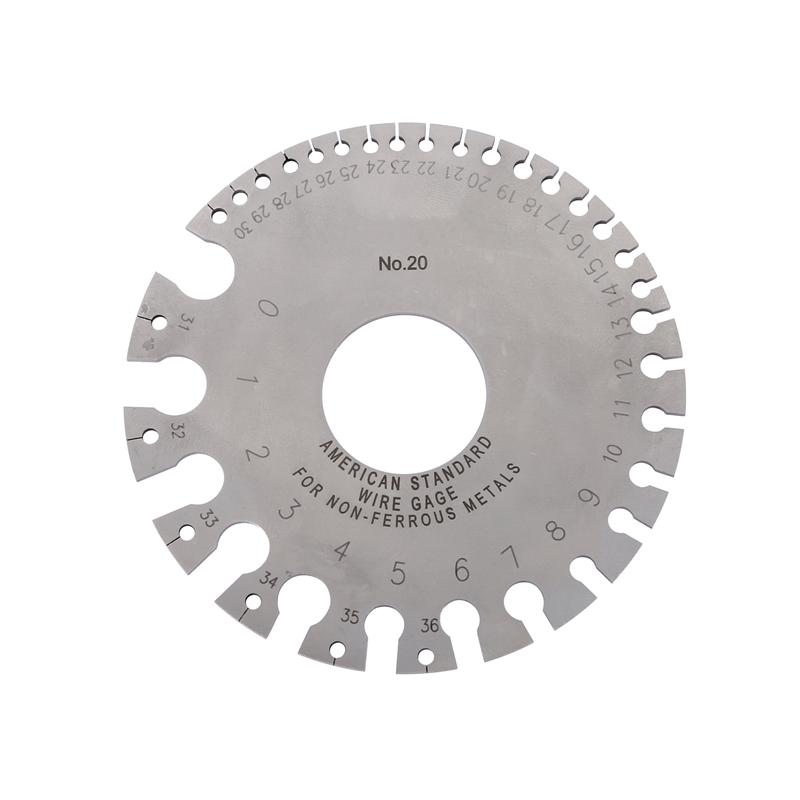 0-36 Round Wire Gage Weld Diameter Gauge Welding Inspection Stainless Steel Inch Inspection A.W.G Gauges American Standard
