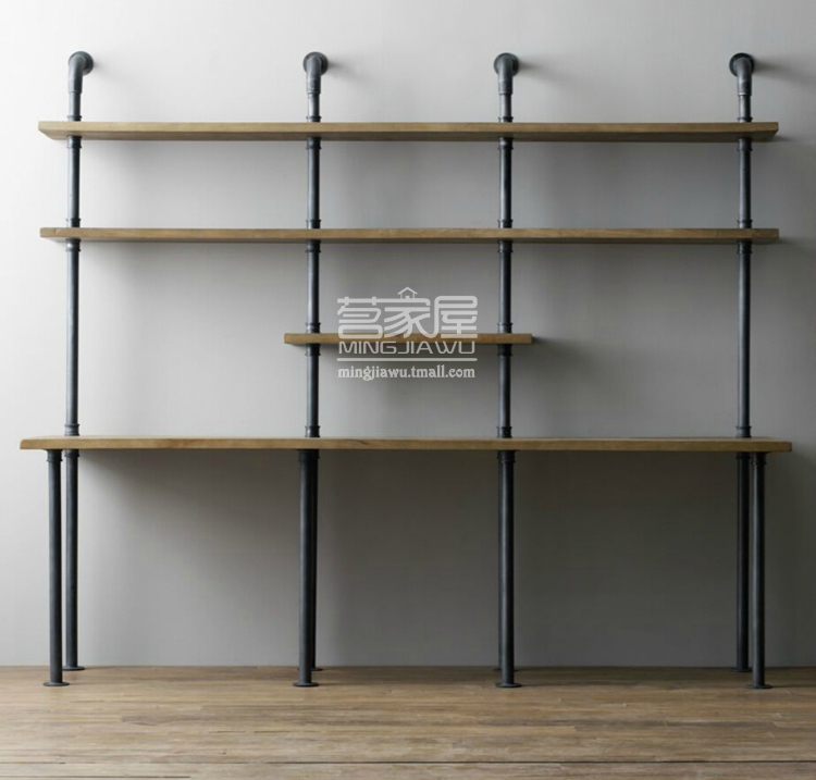 american style retro creative personality industrial water pipe wall shelf bookcase wood computer desk combination american retro style industrial furniture desk