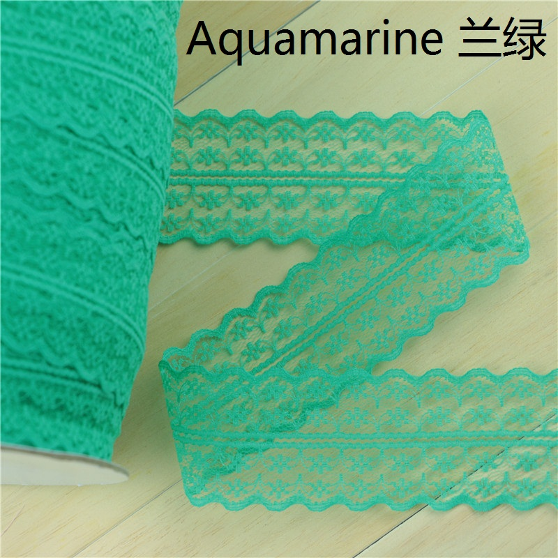 10yards lot bilateral lace ribbon 45MM Width DIY decorative lace trim fabric wedding birthday Christmas decoration