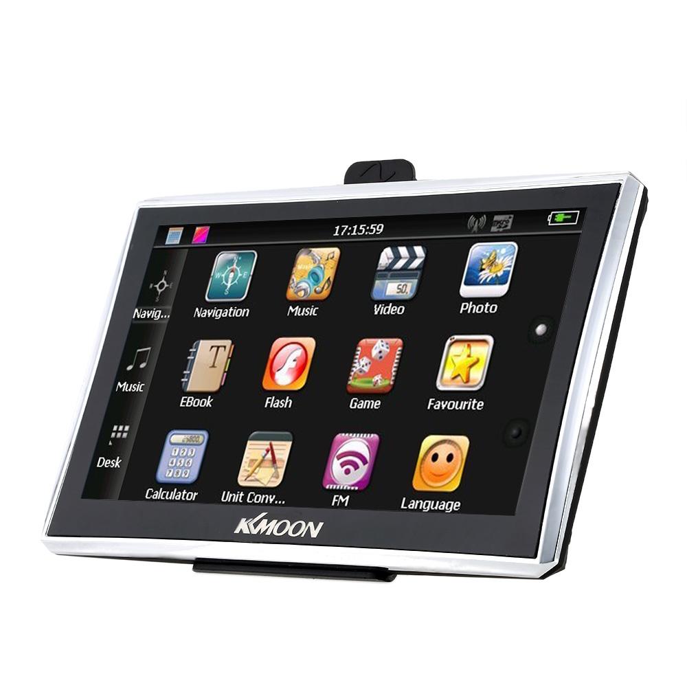 "KKMOON 7"" HD Touch Screen Car GPS Navigation Europe 128MB RAM 4GB ROM FM MP3 Video Player Multi-language Vehicle GPS Navigators(China (Mainland))"