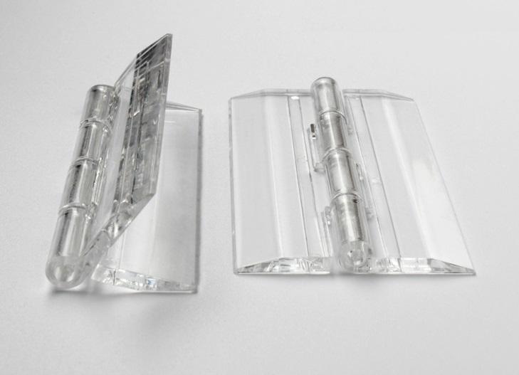 20PCS/LOT H25*W32*T3mm Transparent Clear Acrylic Hinge(China (Mainland))