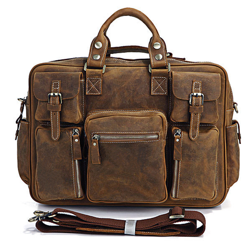 Online Buy Wholesale genuine leather carry luggage bag from China ...