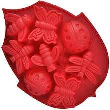2016 Wedding Decoration Cake Supply 8 Cavity Insect Silicone Cake  Mold Soap Ice Candy Candle Tool(China (Mainland))