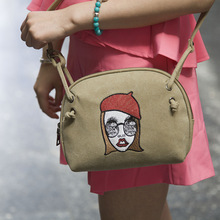 2015 new shells washed canvas shoulder diagonal fashion original sweet change bag little bags factory direct