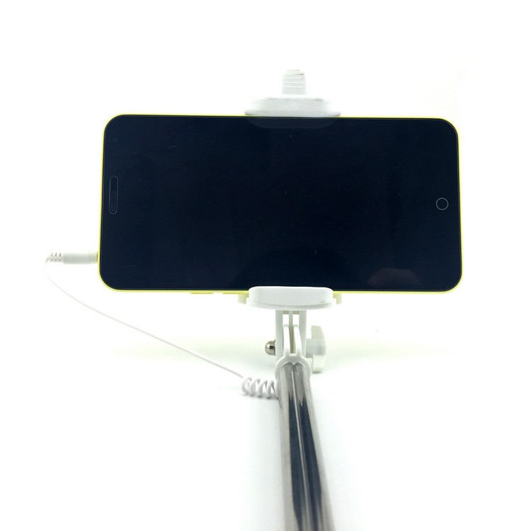 image for Extendable Self Portrait Selfie Handheld Stick Monopod With Smartphone