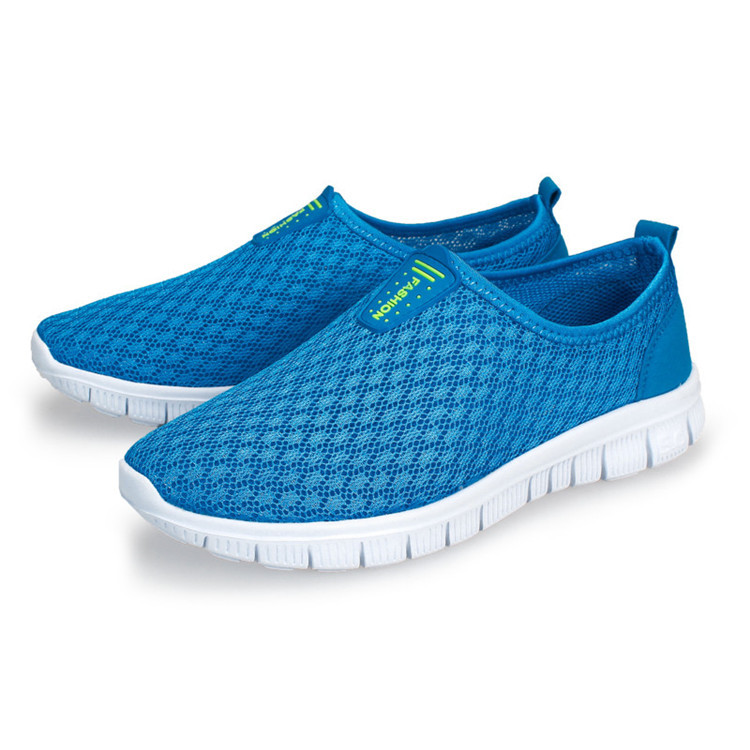 2015 Discount Summer Slip-on Men Mesh Shoes Comfortable Breathable Casual Sport Shoes Light Running Sneakers free shipping(China (Mainland))