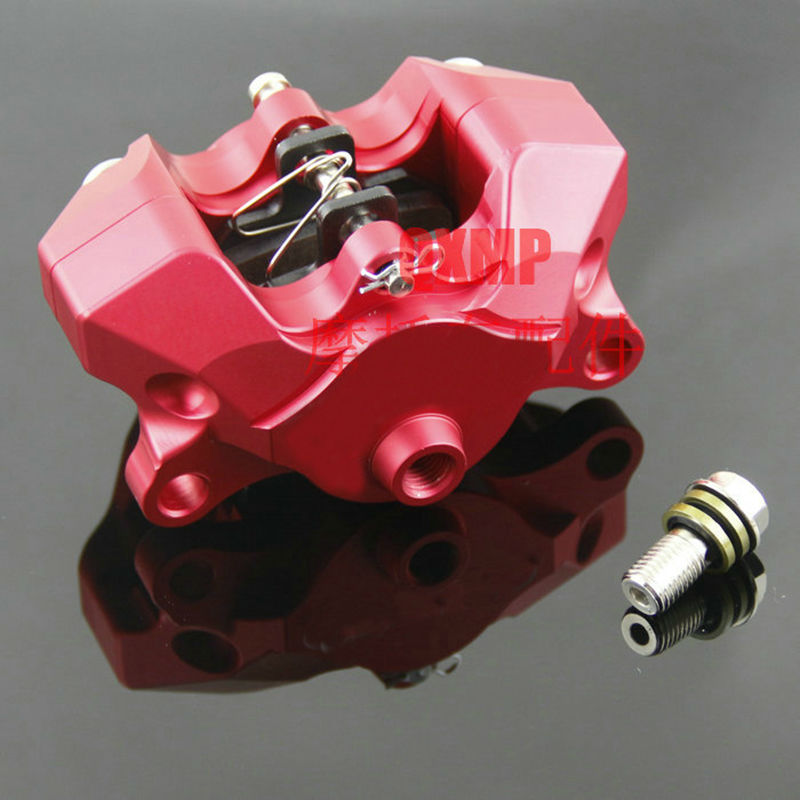 Hot new Motorcycle modification Universal CNC small crabs calipers power Rear Caliper brake pump under the double pistion hole(China (Mainland))