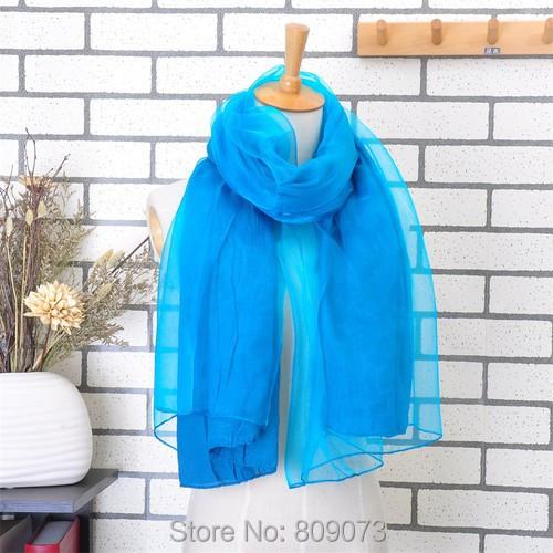 Fashion Style 2014 Solid Color Organza Fabric Long Chiffon Scarves Women Shawl Wrap Scarf Gift  -  Shenzhen Sundah Tech Co., Ltd.(Craft & Dept. store)