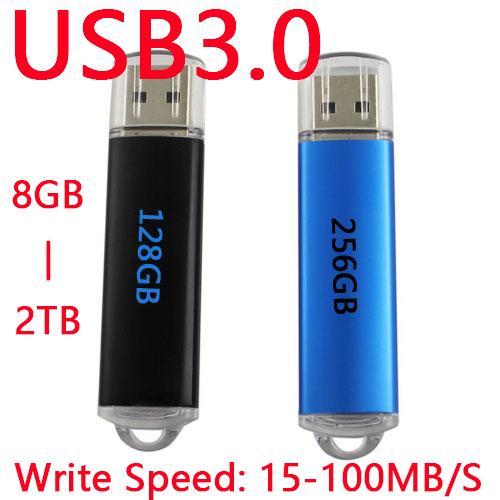 Fast Speed Black Blue Memoria USB Flash Drive 64GB USB 3.0 Pen Drive 256GB 128GB Memory Stick Hard Disk On Key 1TB 2TB 512GB(China (Mainland))