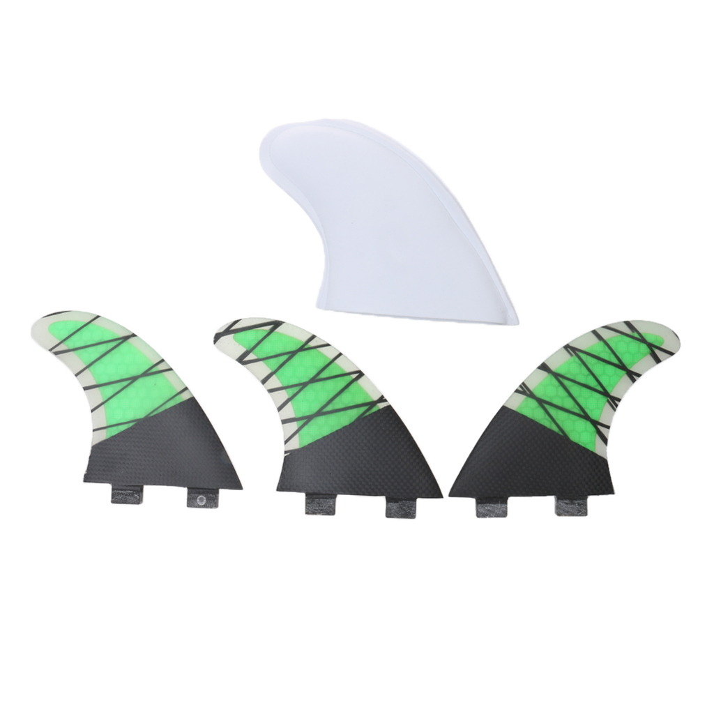 Quality 3pcs Sur Fins Performance Core Carbon Fiberglass G5 Surfboard Surfing Fins Green Water Sport Surfing Board Accessories(China (Mainland))