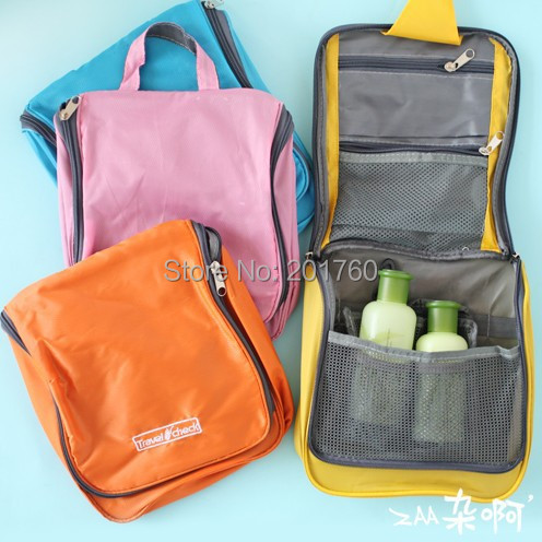 Travel necessities Waterproof and large capacity can hang Storage wash bags cosmetic bag free shipping(China (Mainland))