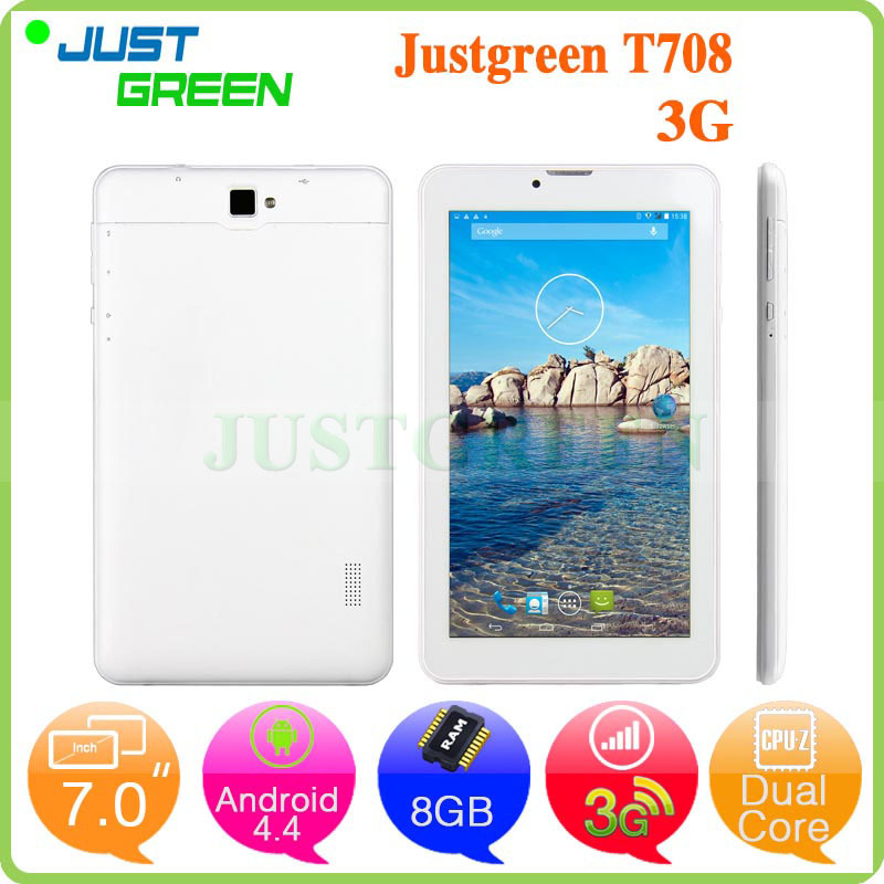 Cheapest Phone Call Tablet PC T708 MTK8312 Dual Core 8GB Bluetooth GPS Camera FM 3G WCDMA Android 4.4 Phablet(China (Mainland))