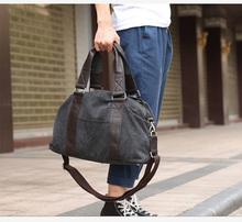 Vintage Tote Large Capacity Men Leisure Duffle Bag Crazy Horse Portable Carry on Luggage Bags Canvas Shoulder Bag handbag(China (Mainland))