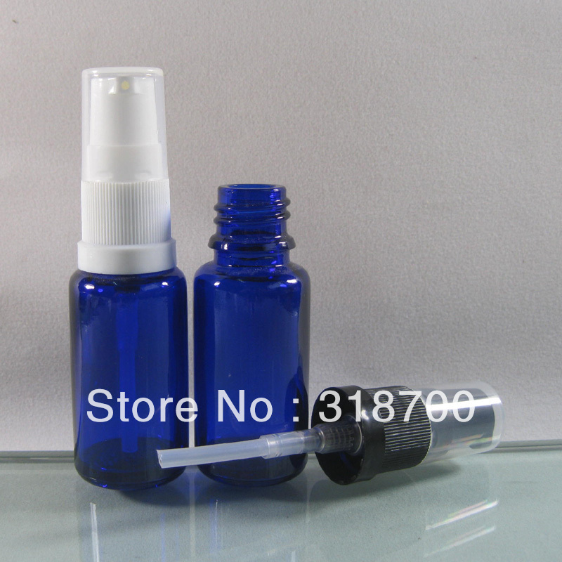 Free shipping - 200/lot DIY 15ml blue glass cream bottle, 15ml pump bottle, 15ml cosmetic container<br><br>Aliexpress