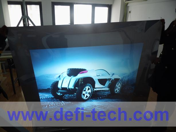 2014 NEW ! Rear projection screen/foil/film for 3D holo display, shop windows, glasses, Christmas advertising(China (Mainland))