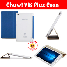 Hot Selling And High Quality PU Fashion Case Cover for 8 Inch Chuwi VI8 Plus Tablet PC free 3 gifts