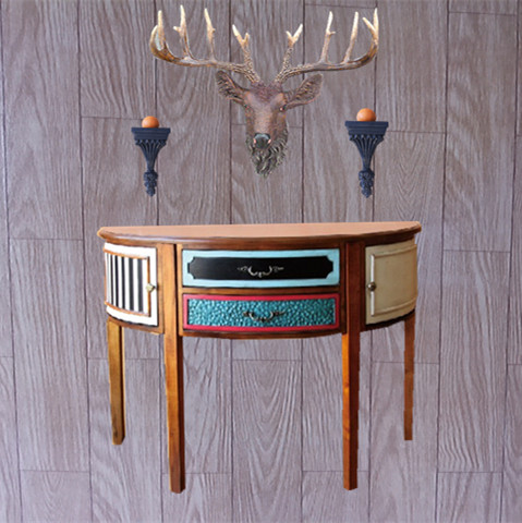 Fashion derlook entrance wall decoration console table entranceway accessories entranceway animal head lucky deer muons(China (Mainland))