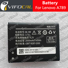 For lenovo battery BL169 2000mAh 100% New replacement accessory for Lenovo A789 P70 S560 Cell Phone + Free Shipping + In Stock(China (Mainland))
