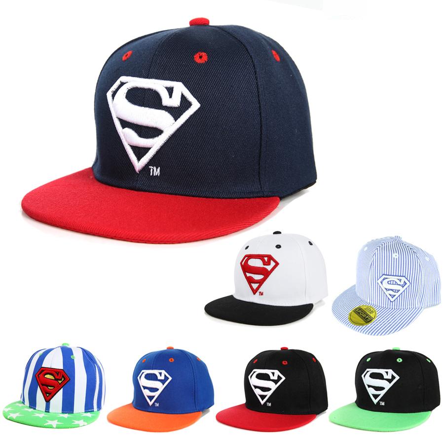 Cool!New Unisex Boys Cap For Children Hat Baby Snapback Hat Kid Hat Snapback Cap Kid Super Man Hip Hop Cap 3-8 Years(China (Mainland))