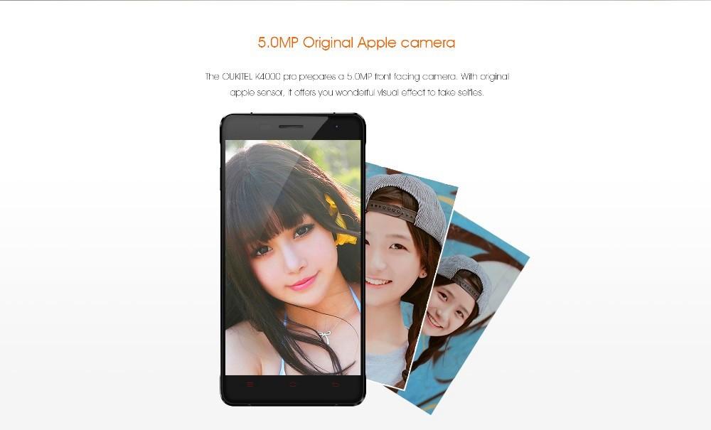 Original Oukitel K4000 Pro 4G LTE Mobile Phone MTK6735 Quad Core Android 6.0 5.0″ 2GB RAM 16GB ROM 4600mah Smartphone