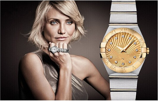 2016 women luxury brand OM OM@a 123.20.24.60.58.001 quartz gold watch high quality(China (Mainland))
