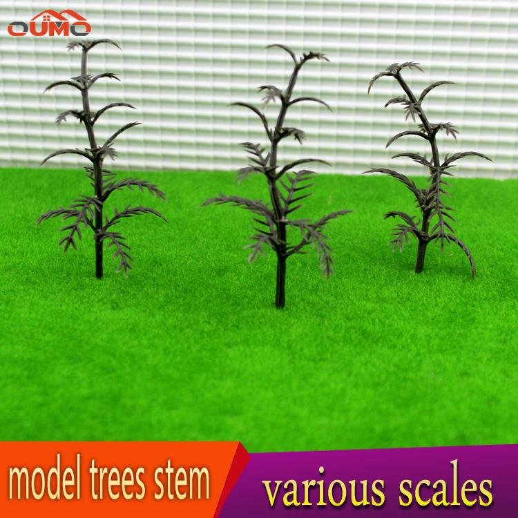 16PCS/SET PINE TREES TRUNK 300 PK. HO scale model railroad / Diorama / Doll Scenery / Miniatures Miniaturel Green 100mm(China (Mainland))
