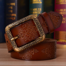 Buy 100%Genuine leather belts women belt luxury vintage female strap pin buckle mens belts designer high classic fashion for $7.80 in AliExpress store