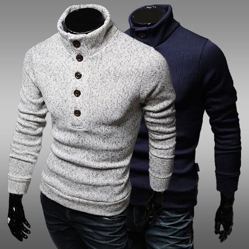 Free-shipping Male's Spring&Autumn&Winter Turtleneck Sweater Mans Sweater Slim Sweater Male Pullovers Sweaters Size M-XXL(China (Mainland))