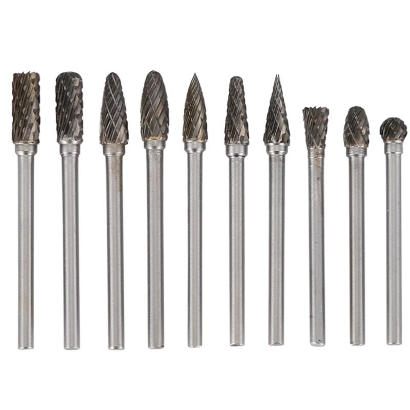 10 pcs tungsten steel solid carbide burrs 3 5mm for dremel - Fresas para dremel ...