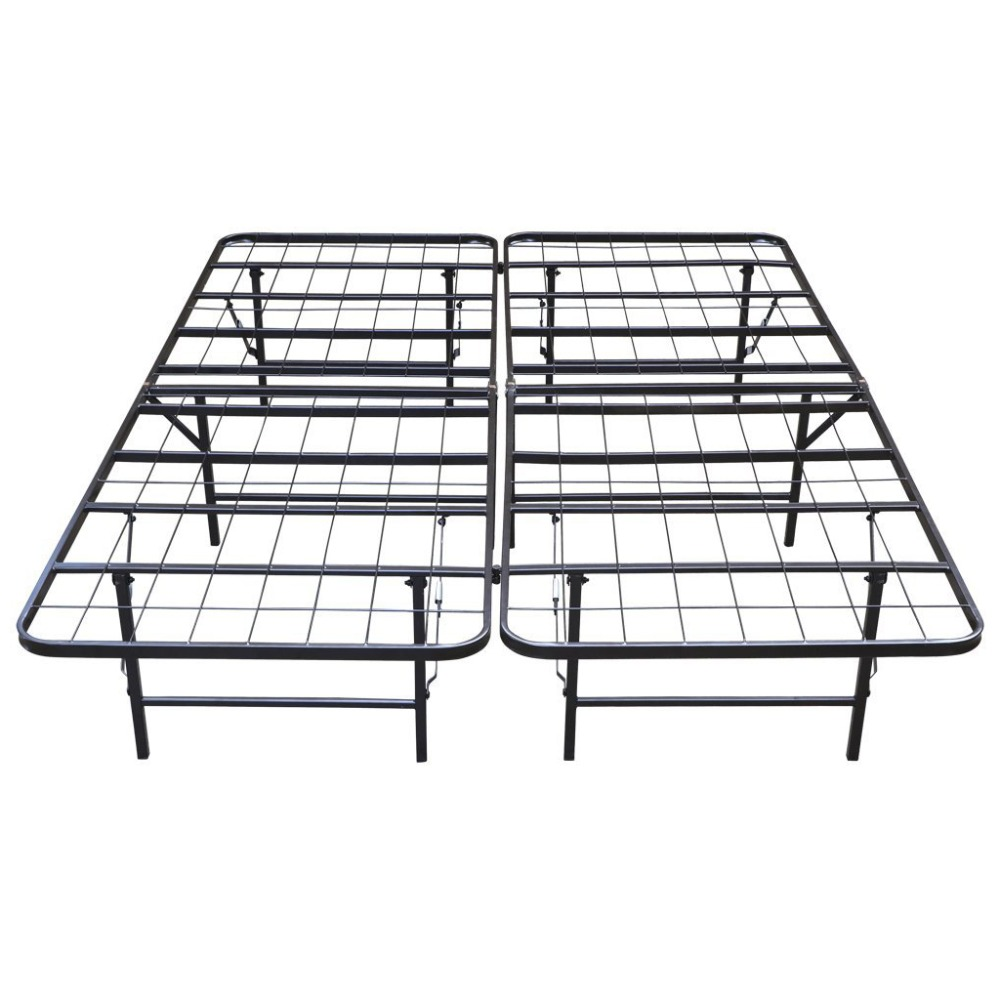 Langria King Size Heavy Duty 14-Inch High Folding Metal Bed Frames / Mattress Outdoor Beach Lying Modern and Brief Bed Frames(China (Mainland))