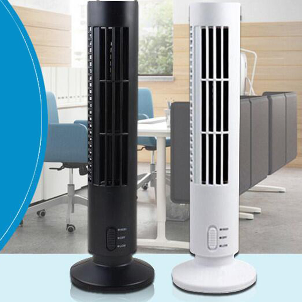 Promotion! Brand New High Quality Portable USB Mini Bladeless No Leaf Air Conditioner Cooling Cool Desk Tower Fan(China (Mainland))