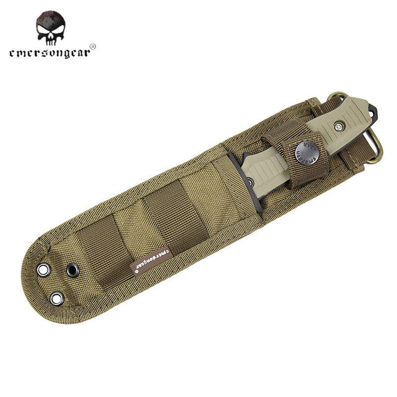Buy Emerson BC Style 141 Dummy Knife Plastic Cover Nylon Knife Pouch Combat Gear Military Army Airsoft Hunting Accessories EM3330 cheap