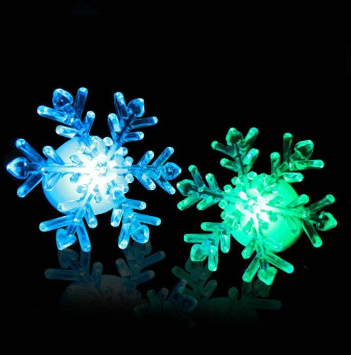 2014 New Acrylic Snowflake Nightlight Holiday Led Bulbs