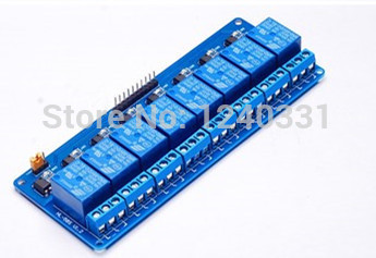 10PCS Blue 8Channel 5V Active Low Relay Module Board for Arduino PIC AVR MCU DSP(China (Mainland))