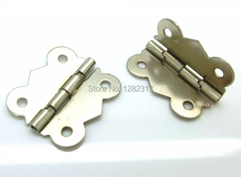 Free Shipping-30 PCs Door Butt Hinges(can be rotated) Box Hinges Silver Tone 4 Holes 3x2.6cm D0024(China (Mainland))