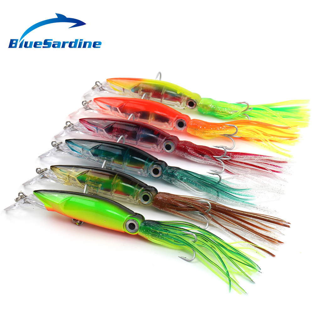 6PCS 41G 23CM Octopus Squid Minnow Hard Bait Fishing Lures Artificial Fish Fishing Tackle(China (Mainland))