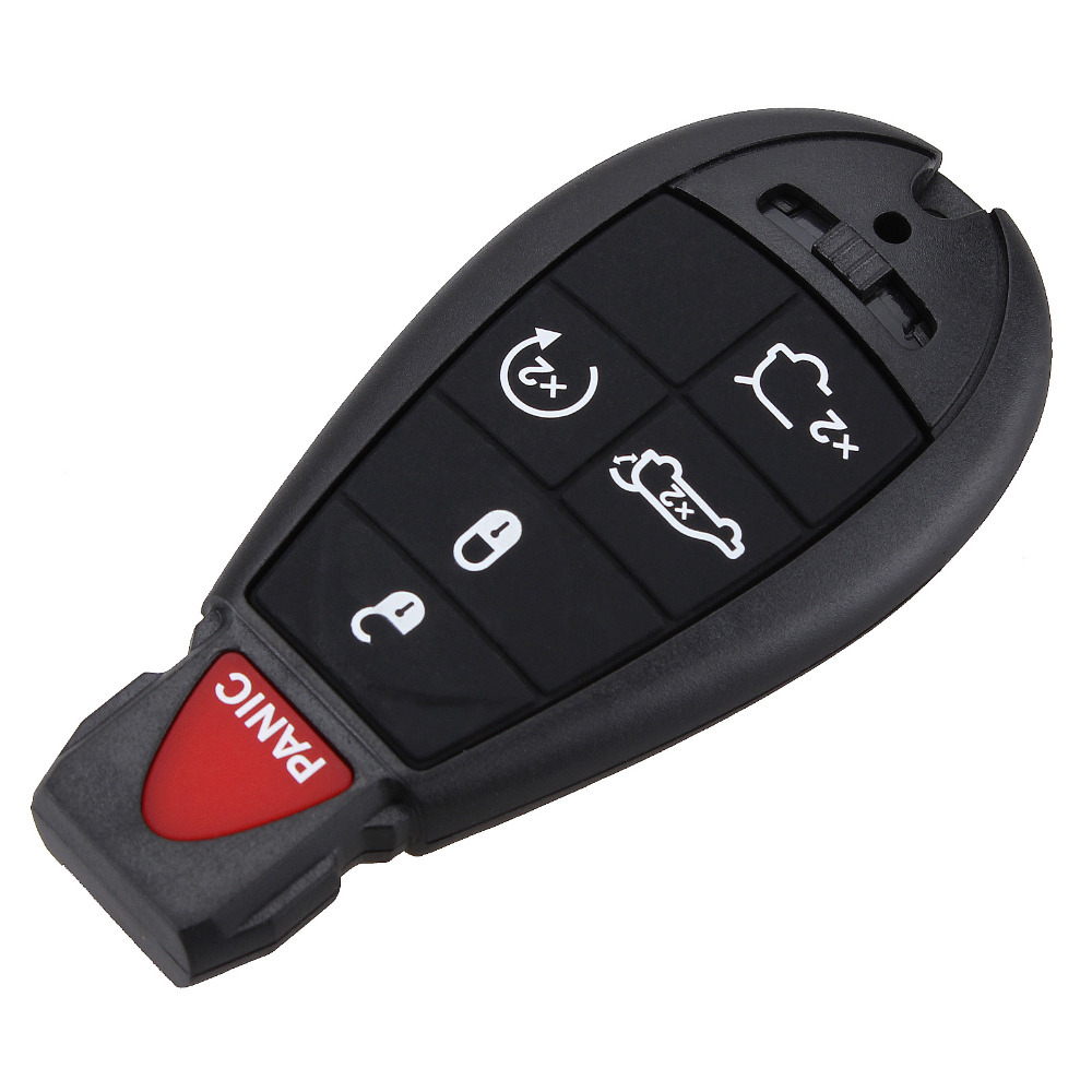 6 Button Remote Smart Key Shell + Blank Blade For Chrysler Jeep Dodge Grand Caravan Durango Charger Journey Key Case Fob Cover(China (Mainland))