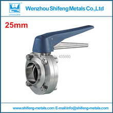 1''(25mm) sms304 Connector welded butterfly valve(China (Mainland))