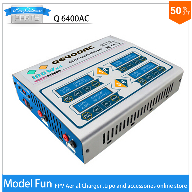 EV-Peak high quality professional RC lipo balance charger AC/DC 4*100W for NiCd/NiMH LiPo/LiLo/LiFe battery intelligent charger<br><br>Aliexpress