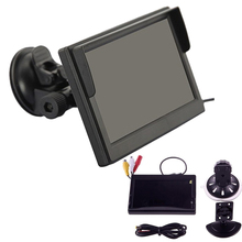 "by DHL or EMS 200 picecs 5"" HD800*480 Digital Panel Car Rear View Monitor With Bracket 2 Video Input Car Rear Monitor(China (Mainland))"